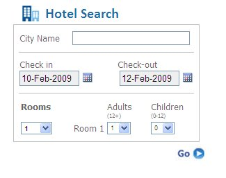 Search For Hotel Fares